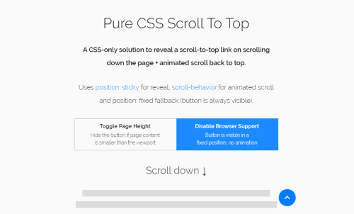 Scroll To Top Css